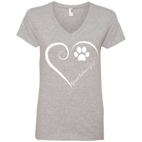 Giant Schnauzer, Always in my Heart Ladies V Neck Tee