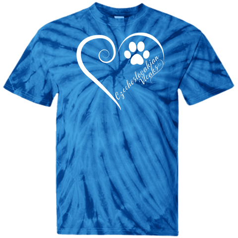 Czechoslovakian Vlcak, Always in my Heart Tie Dye T-Shirt