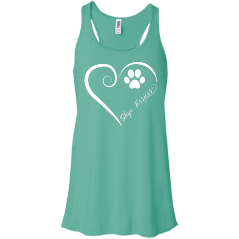 Skye Terrier, Always in my Heart Flowy Racerback Tank