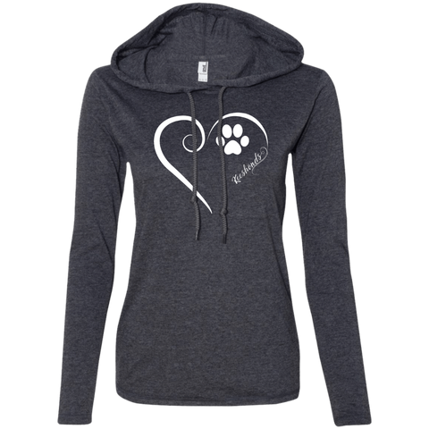 Keeshond, Always in my Heart Ladies T-Shirt Hoodie