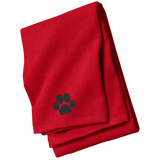 Paw Print Embroidered Beach Towel