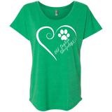 Old English Sheepdog, Always in my Heart Ladies Triblend Dolman Sleeve