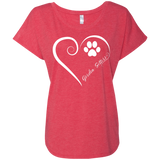 Gordon Setter, Always in my Heart Ladies Triblend Dolman Sleeve