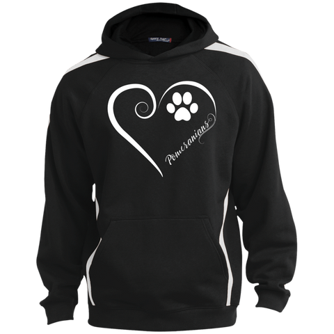 Pomeranian, Always in my Heart  Colorblock Sweatshirt