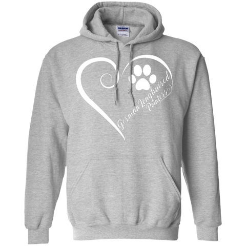 German Longhaired Pointer, Always in my Heart Hoodie