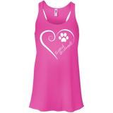 Scottish Deerhound, Always in my Heart Flowy Racerback Tank