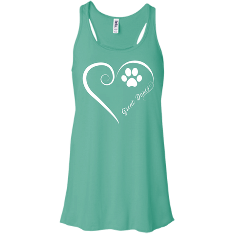 Great Dane, Always in my Heart Flowy Racerback Tank