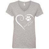 Polish Lowland Sheepdog, Always in my Heart Ladies V Neck Tee