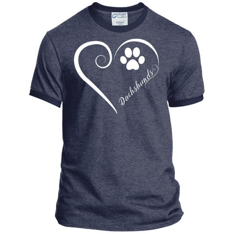 Dachshund, Always in my Heart Ringer Tee