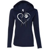 Lhasa Apso, Always in my Heart Ladies T-Shirt Hoodie