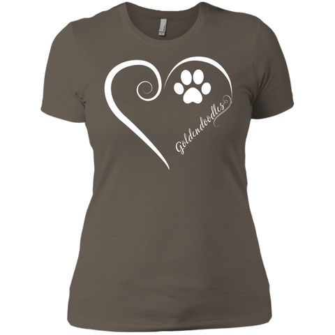 Goldendoodle, Always in my Heart Ladies' Boyfriend Tee