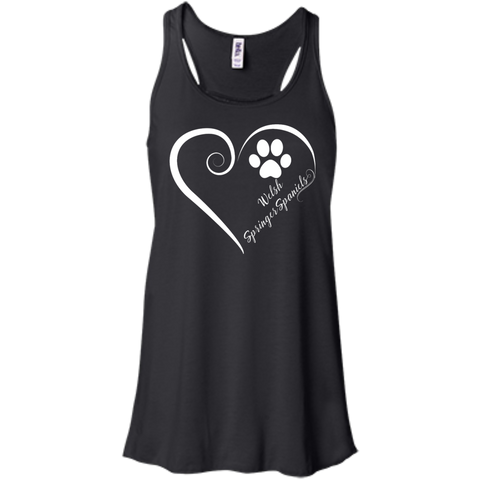 Welsh Springer Spaniel, Always in my Heart Flowy Racerback Tank