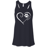 German Longhaired Pointer, Always in my Heart Flowy Racerback Tank