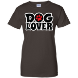 Dog Lover Ladies 100% Cotton T-Shirt