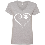 Dalmatian, Always in my Heart Ladies V Neck Tee