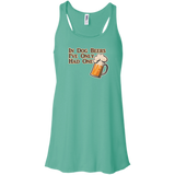 In Dog Beers Flowy Racerback Tank