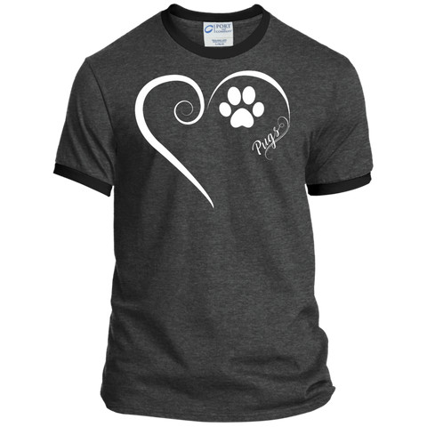 Pug, Always in my Heart Ringer Tee