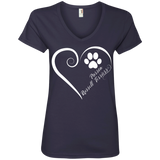 Parson Russell Terrier, Always in my Heart Ladies V Neck Tee