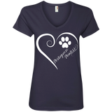 Portuguese Pointer, Always in my Heart Ladies V Neck Tee