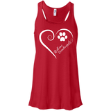 Redbone Coonhound, Always in my Heart Flowy Racerback Tank