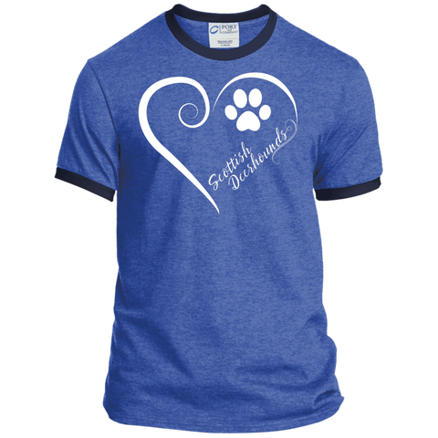 Scottish Deerhound, Always in my Heart Ringer Tee