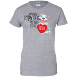 Pit bulls Steal Your Heart Ladies 100% Cotton T-Shirt