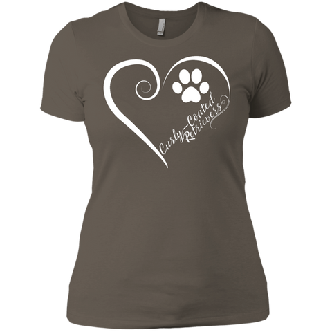 Curly-Coated Retriever, Always in my Heart Ladies' Boyfriend Tee