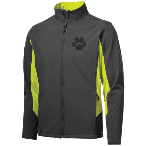 Paw Print Colorblock Soft Shell Jacket