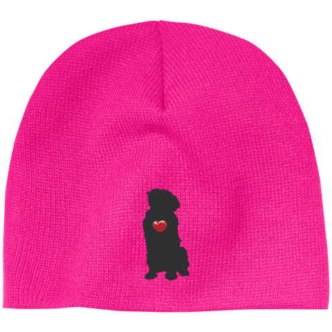 """My Heart"" Golden Retriever Beanie"