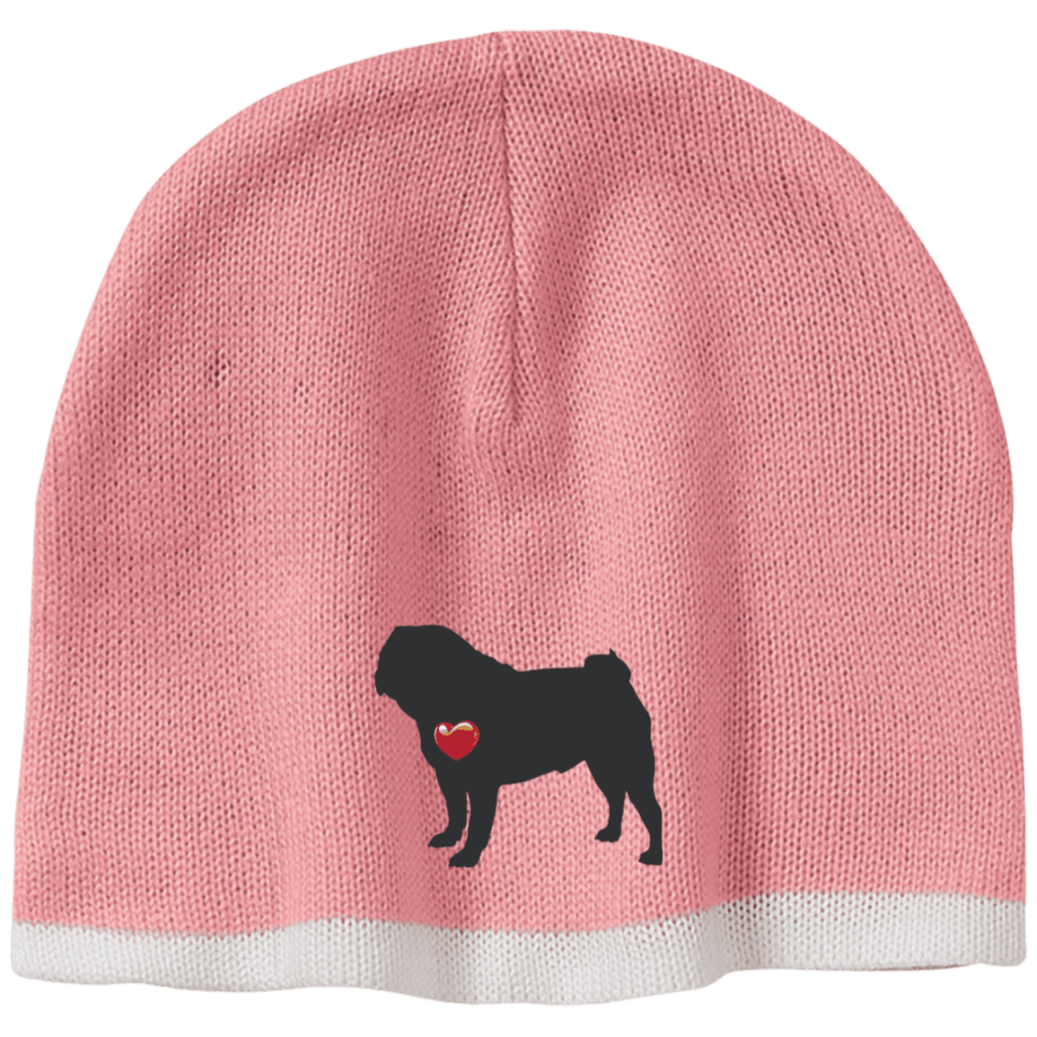 My Heart Pug Beanie – Patch Puppy f6f541ec0b5