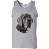 Great Dane Portrait Unisex Gildan 100% Cotton Tank Top