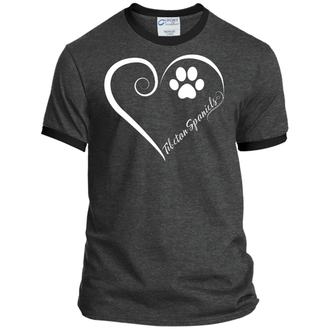 Tibetan Spaniel, Always in my Heart  Ringer Tee