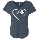 Pug, Always in my Heart Ladies Triblend Dolman Sleeve