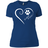 Scottish Terrier, Always in my Heart Ladies' Boyfriend Tee