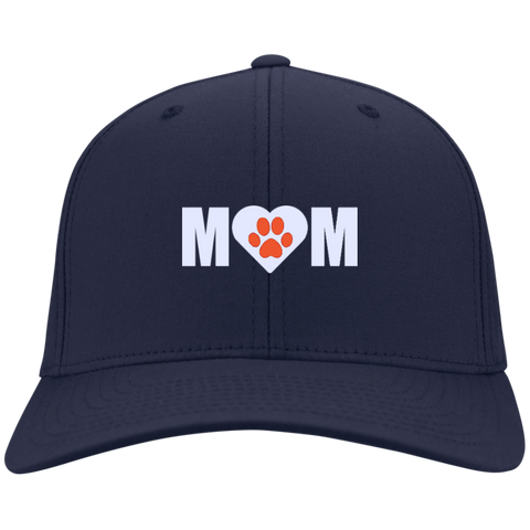 Paw Print Mom Nylon Cap