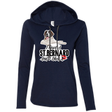I Kissed a St. Bernard Ladies T-Shirt Hoodie
