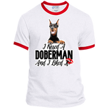 I kissed a Doberman Ringer Tee