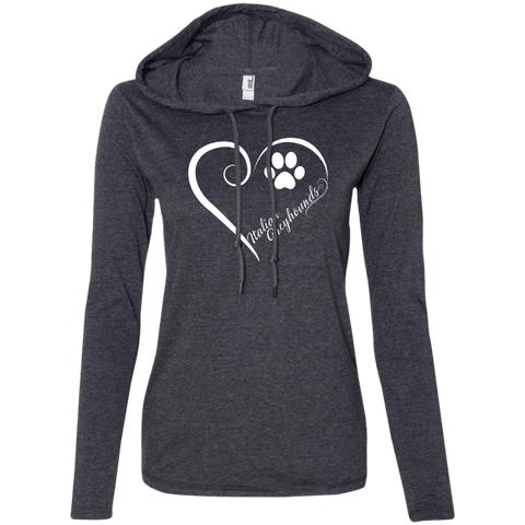 Italian Greyhound, Always in my Heart  Ladies T-Shirt Hoodie
