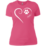 Plott Hound, Always in my Heart Ladies' Boyfriend Tee