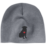 My Heart Sitting Pug Beanie