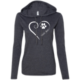 Shiba Inu, Always in my Heart Ladies T-Shirt Hoodie