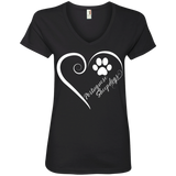 Portuguese Sheepdog, Always in my Heart Ladies V Neck Tee