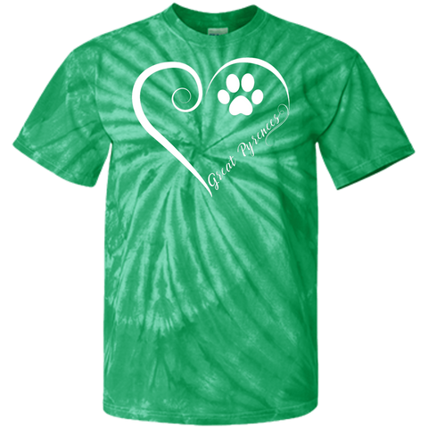 Great Pyrenees, Always in my Heart Tie Dye T-Shirt