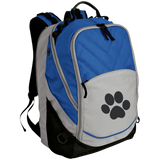 Paw Print Embroidered Laptop Computer Backpack
