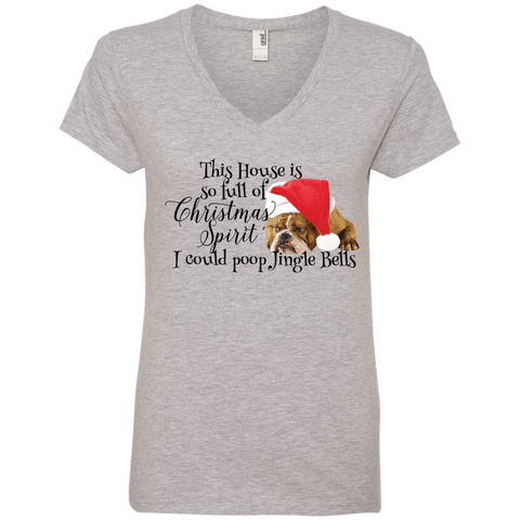 I Could Poop Jingle Bells Ladies V-Neck Tee