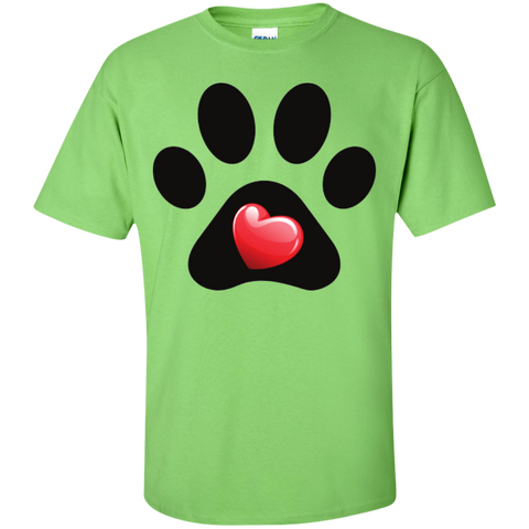 """My Heart"" Paw Print Tee - Benefiting Jesse's Fund for Senior Dog Adoption"