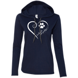 Icelandic Sheepdog, Always in my Heart Ladies T-Shirt Hoodie