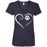Pekingese, Always in my Heart Ladies V Neck Tee
