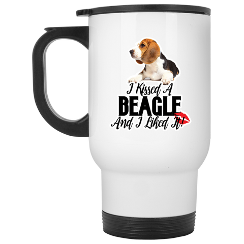 I kissed a Beagle and I liked it XP8400W White Travel Mug
