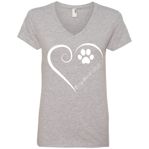 Kerry Blue Terrier, Always in my Heart Ladies V Neck Tee